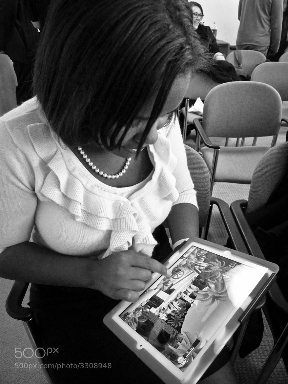 "Photograph ""Jasmine Plays Angry Birds"" by B.C.  Lorio on 500px"
