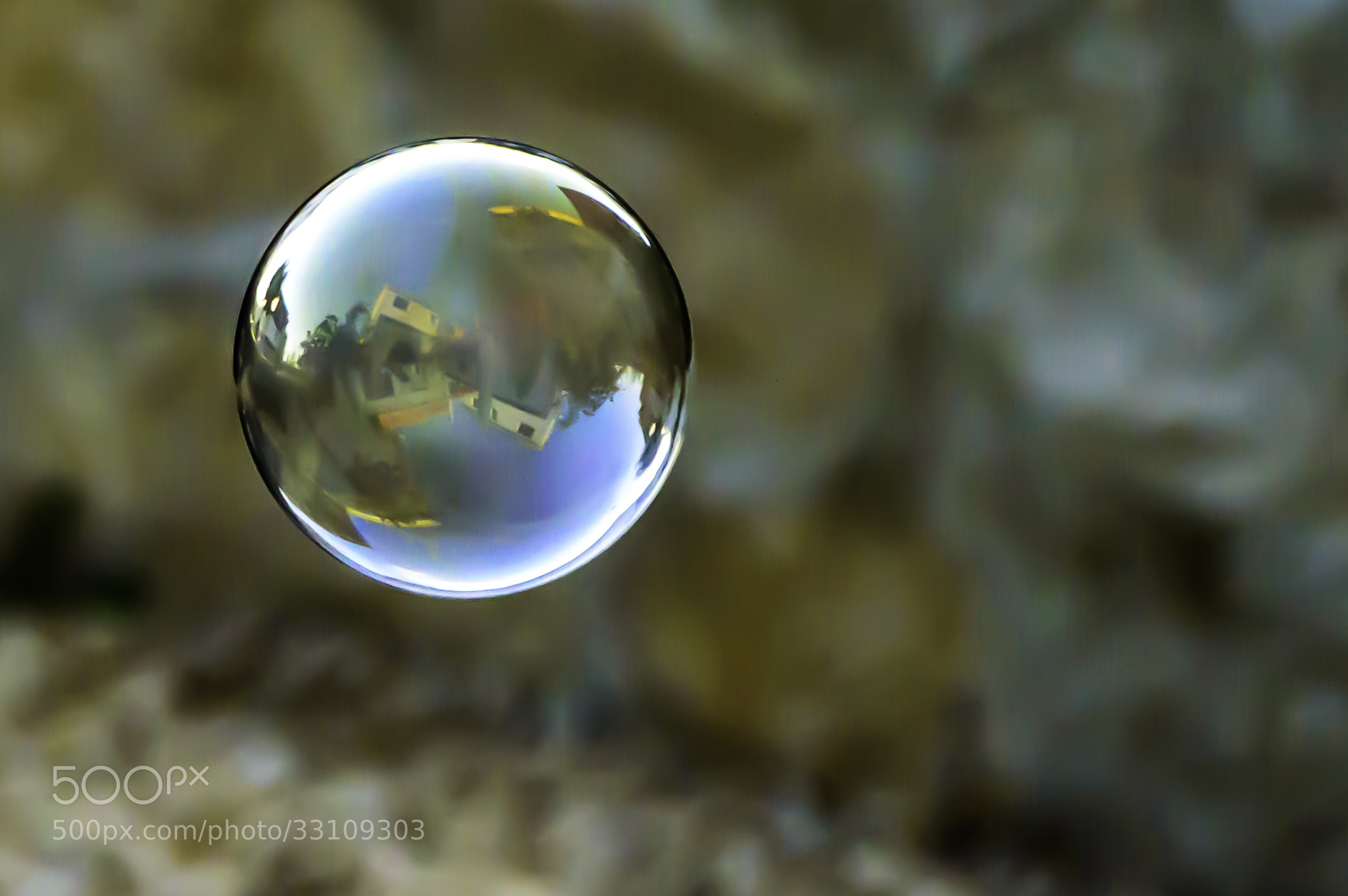 Photograph House reflection in a bubble by Bertie Odendaal on 500px