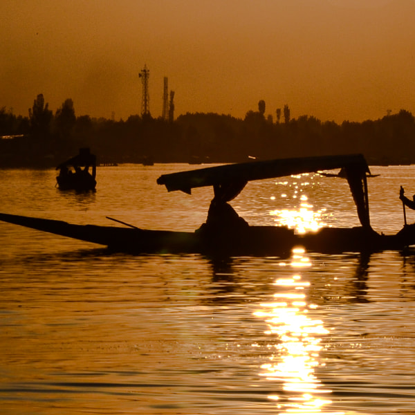 Sunset at Dal Lake