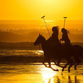 Polo Riders on the beach, Morro Bay, CA by Juan Pons (jpons)) on 500px.com