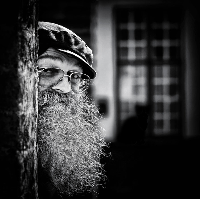 Photograph Andries and his cat by piet flour on 500px