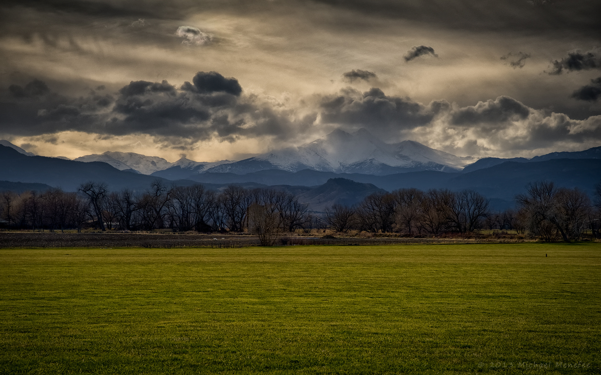 Photograph Front Range Spring Green Infusion by Michael Menefee on 500px