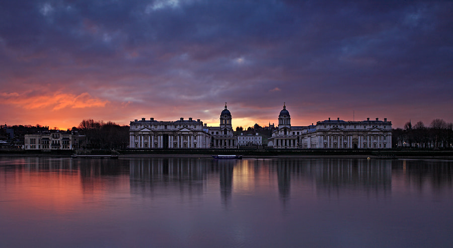 Sunrise at the Old Royal Naval College