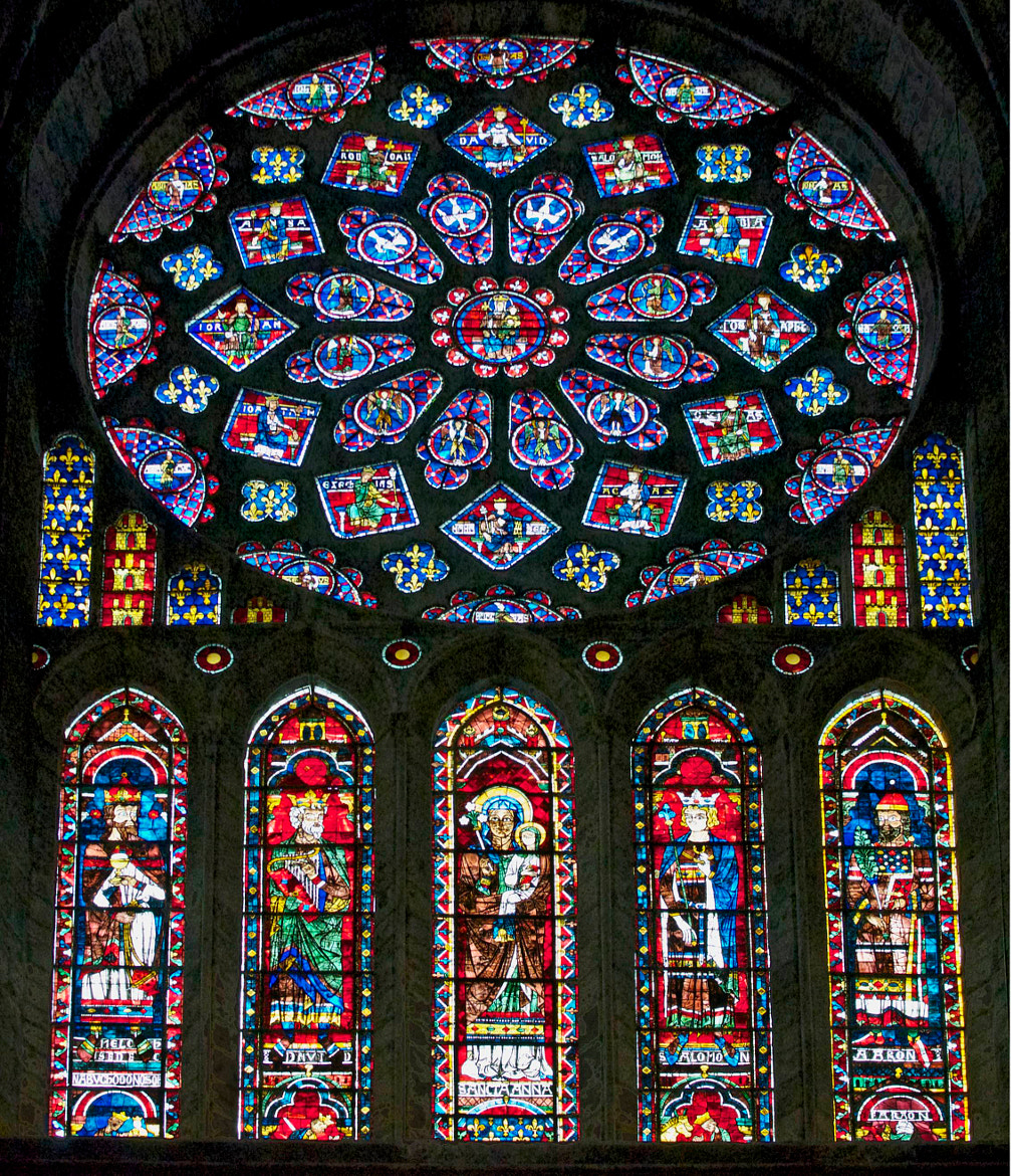 Photograph Chartres Cathedral Stained Glass by Pierre Nouaille-Degorce on 500px