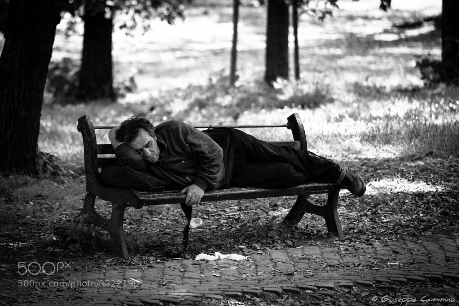Photograph Homeless guy in Villa Borghese by Giuseppe Cammino on 500px