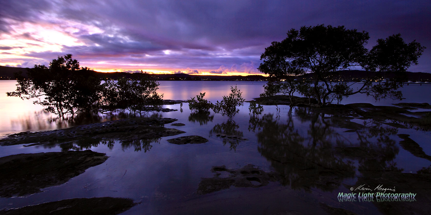 Photograph Purple Sunset at Green Point by Kevin Morgan on 500px