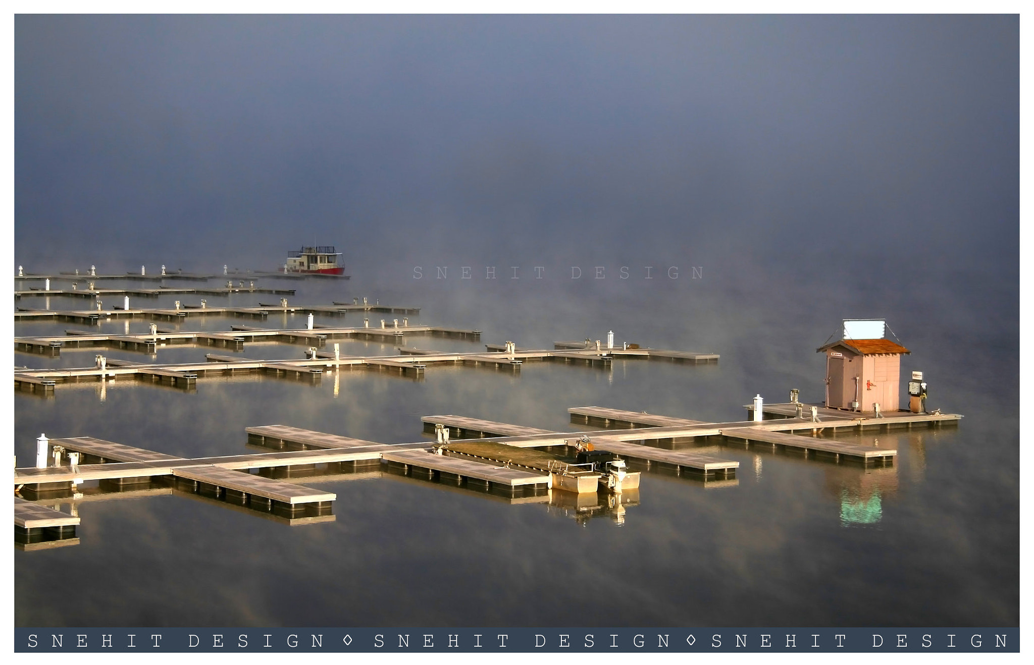 Photograph Boating dock in the mist by S N E H I T  on 500px