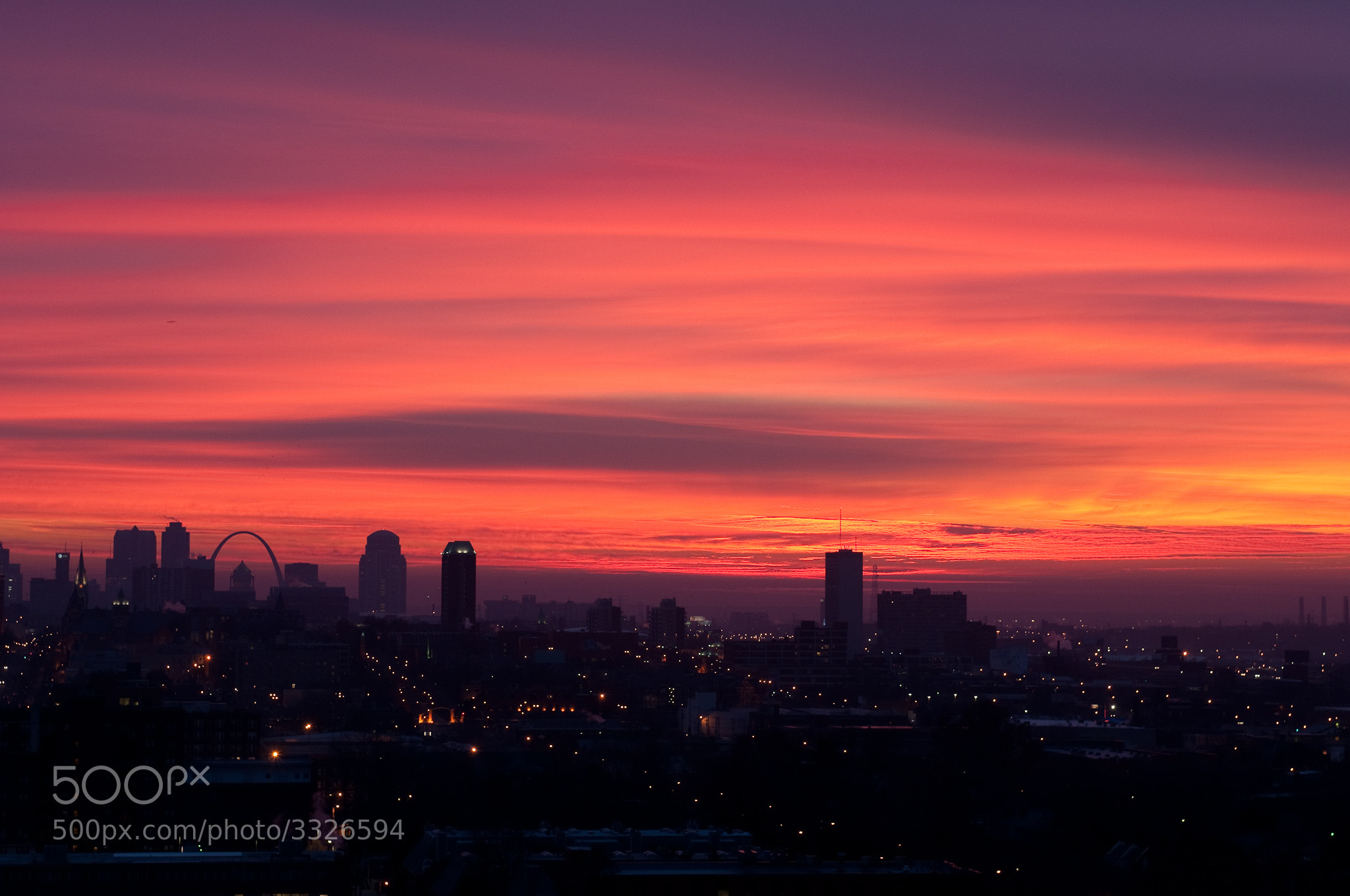 Sunrise in the City by Doug Weber / 500px
