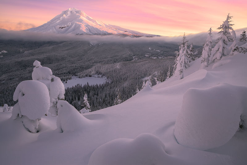 Photograph Mt. Hood Winter by Alan Howe on 500px