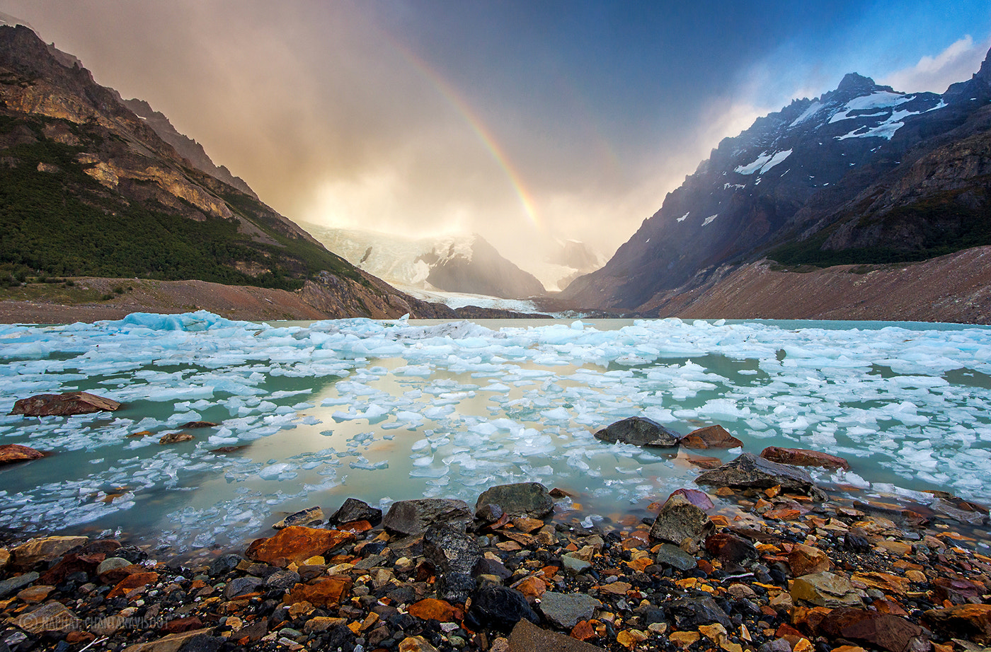 Photograph Laguna Torre with Rainbow by Nae Chantaravisoot on 500px
