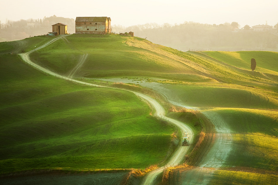 Photograph Up the hill to the farm by Marcin Sobas on 500px