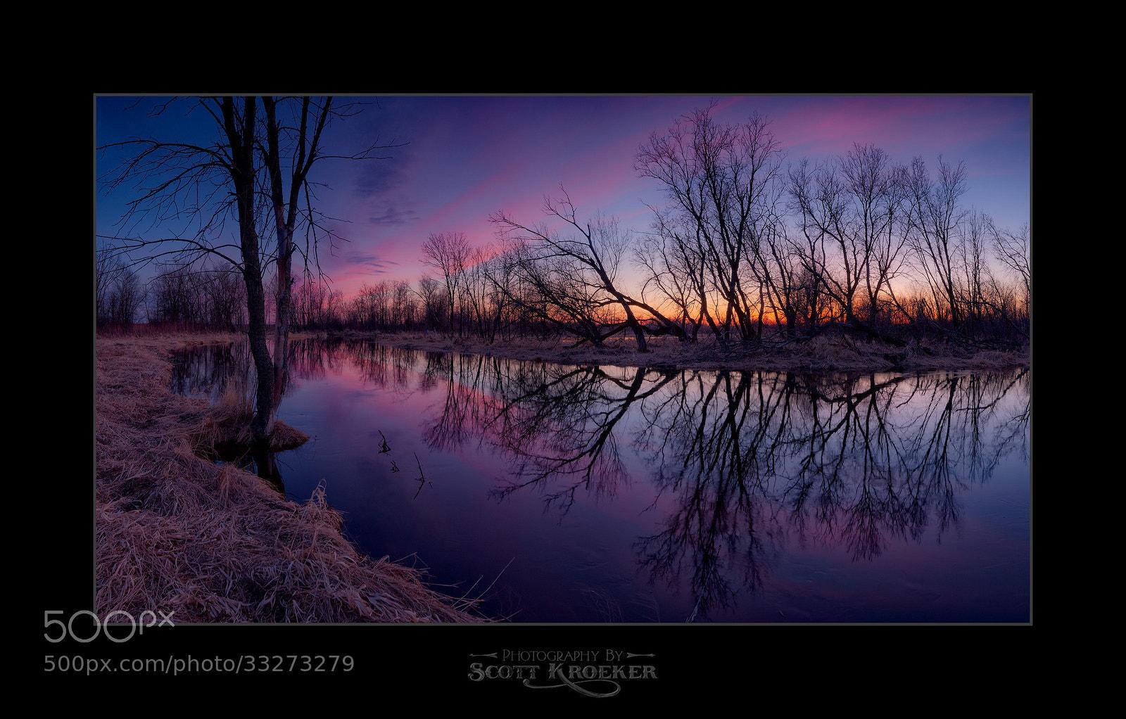 Photograph Rat River Sunset by Scott Kroeker on 500px