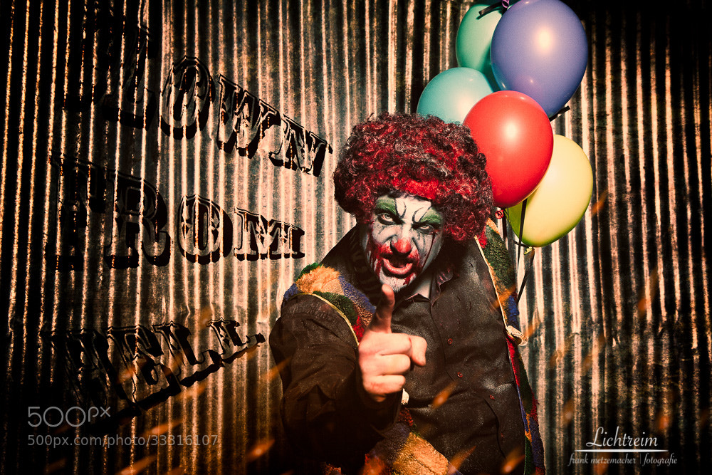 Photograph Clown From Hell by Frank Metzemacher on 500px
