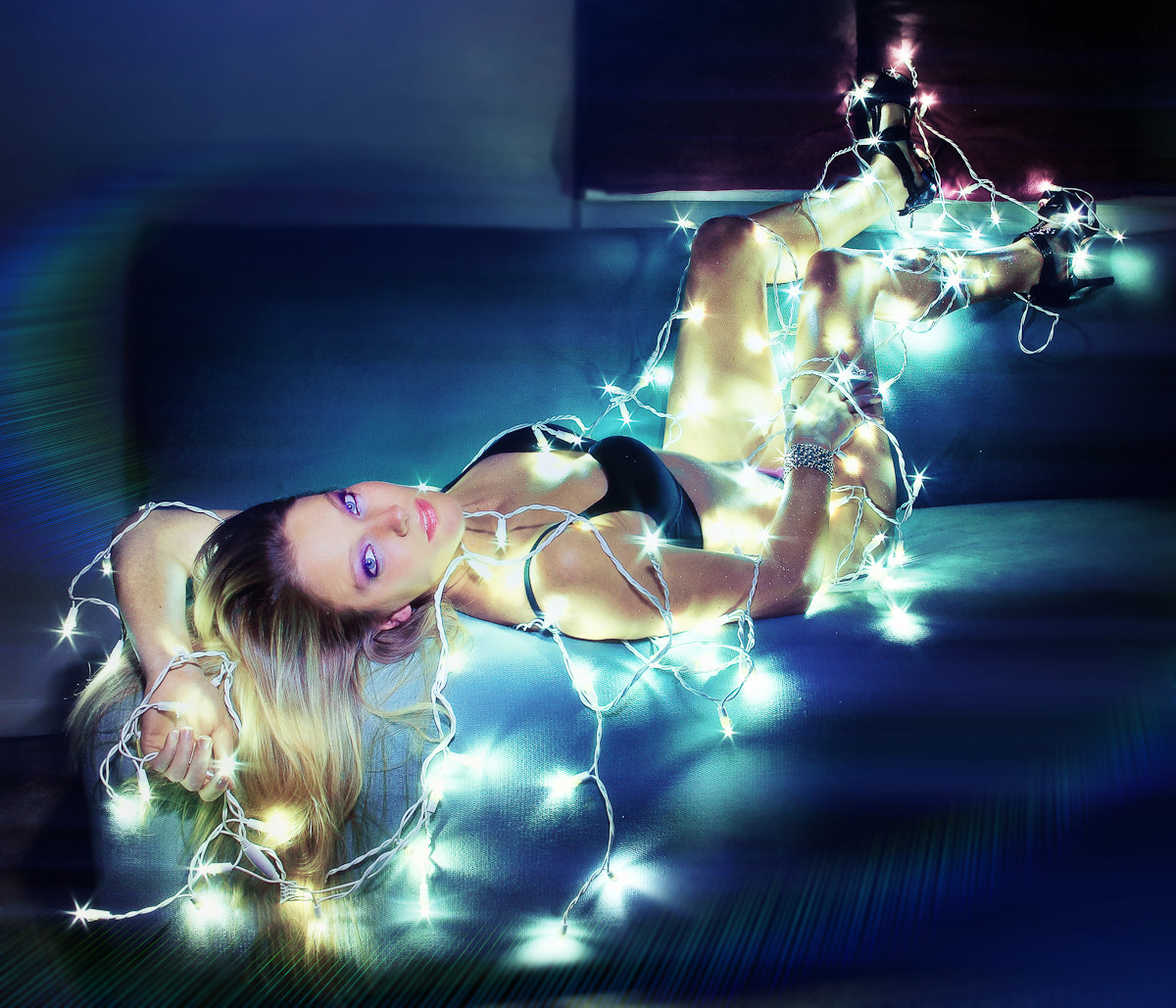Photograph Katie Model ~ XMas Lights Gaga Style by CT  Pham on 500px