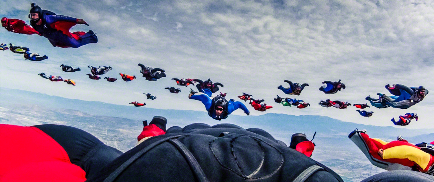 Photograph Wingsuit World Record 2012 by Jeff Lombardo on 500px