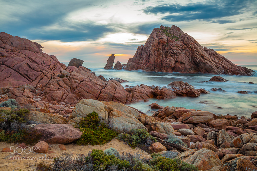 Sugarloaf Rock off the cost of the south-west of Australia near Cape Naturaliste