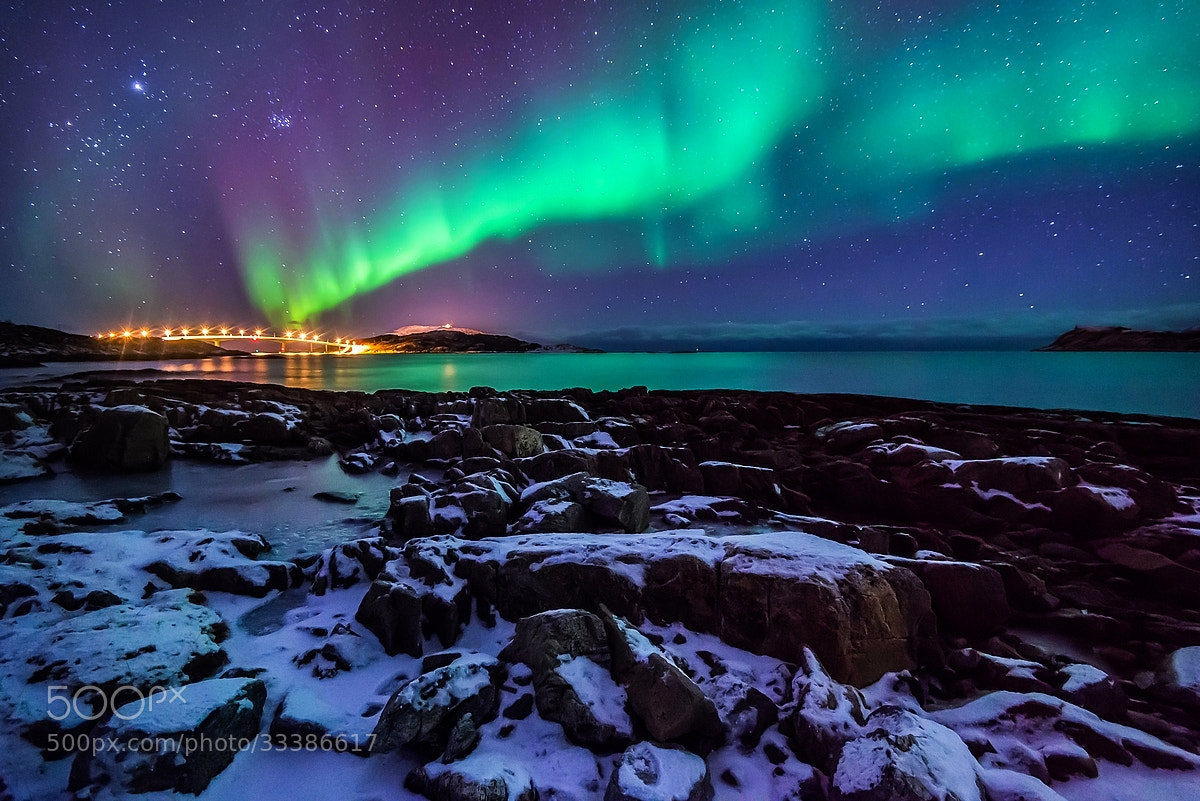 Photograph Northern light on Sommaroy bridge by Joris Kiredjian on 500px