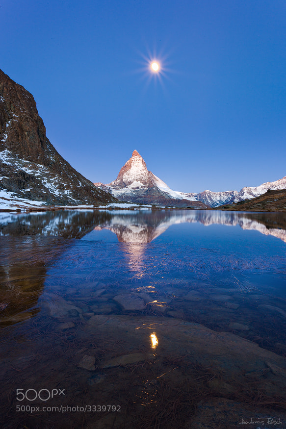 Photograph Moonset by Andreas Resch on 500px