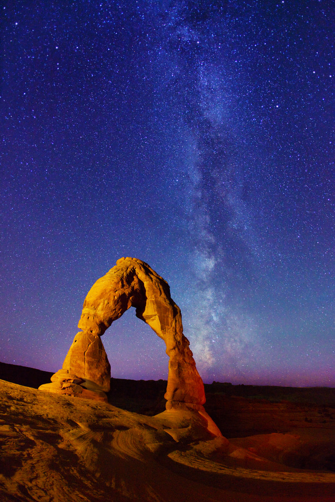 Photograph Delicate Arch and Milky Way stars by Royce's NightScapes on 500px