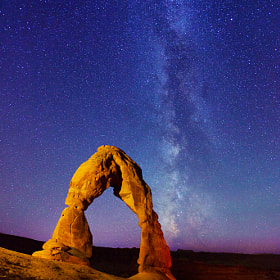 Delicate Arch and Milky Way stars by Royce's NightScapes (nightscape)) on 500px.com