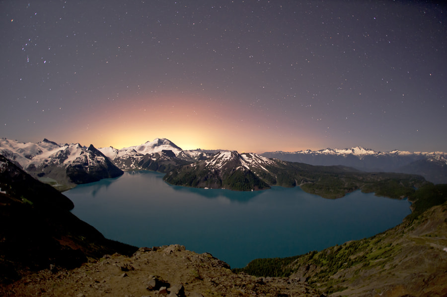 Photograph Garibaldi Lake @ Night by David McColm on 500px