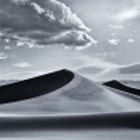 The Magic Hour is the sweet spot of the day for photographers for sure, but the strong light of late afternoon works well when shooting black and white, especially in a place like Mesquite Sand Dunes which offer such smooth flowing lines.