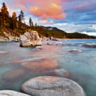 While summer offers mostly blue skies at Lake Tahoe, Ca, Spring storms can mix up some amazing conditions to photograph.