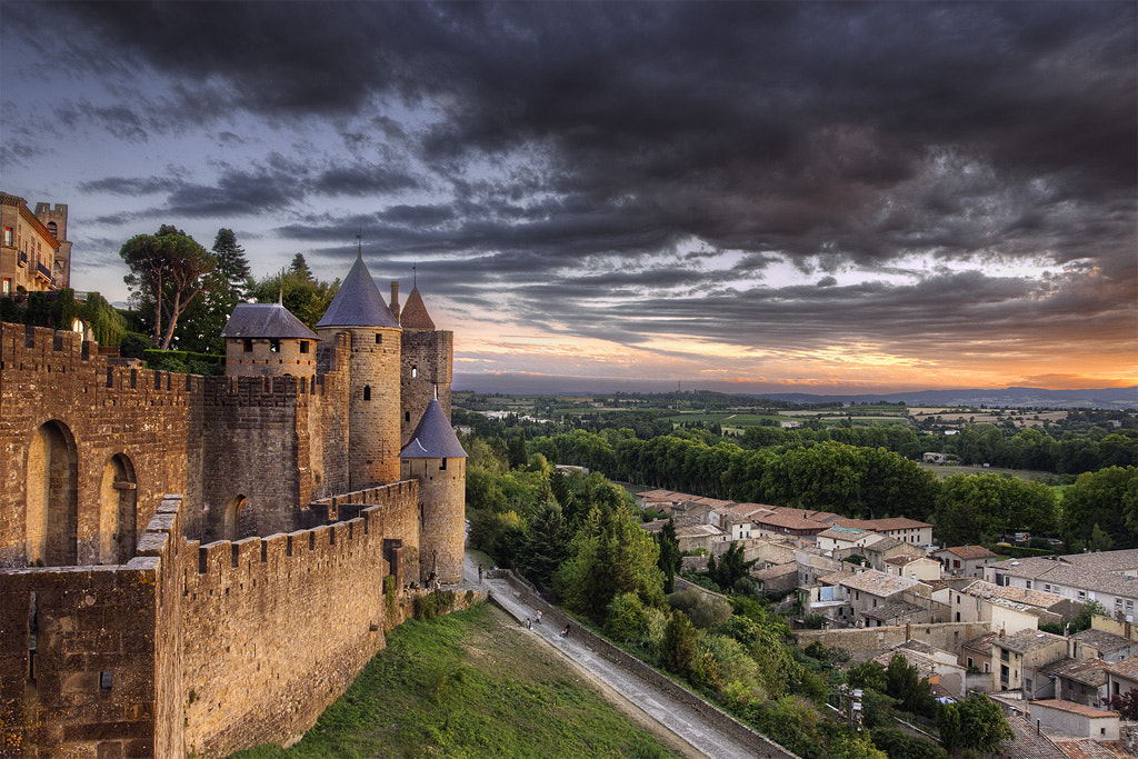Photograph Carcassonne sunset by Xavi Virgili on 500px