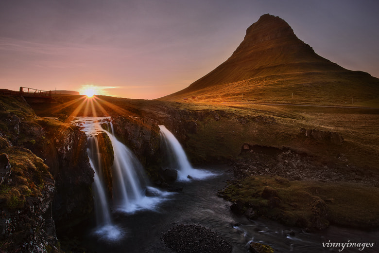 Photograph Setting sun in Iceland by Vinny Pickens on 500px