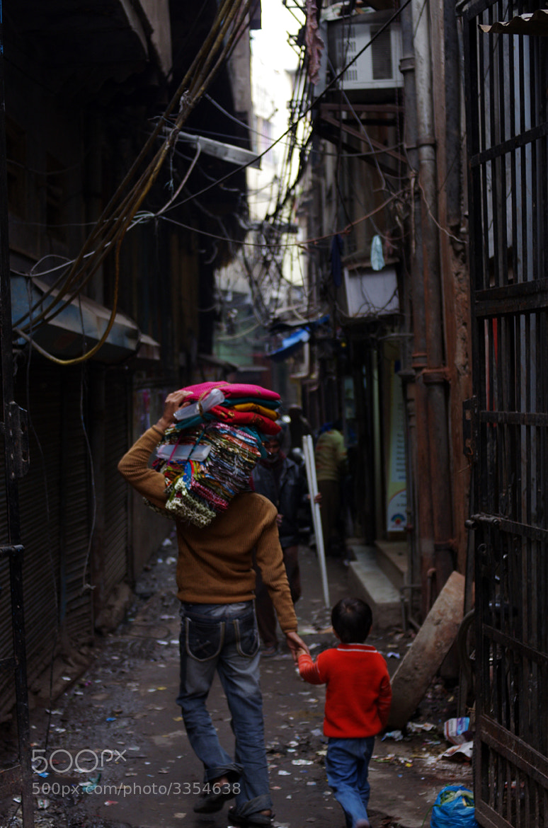 Photograph Dad and son - Old Delhi. by Cyril Floquet Degalle on 500px