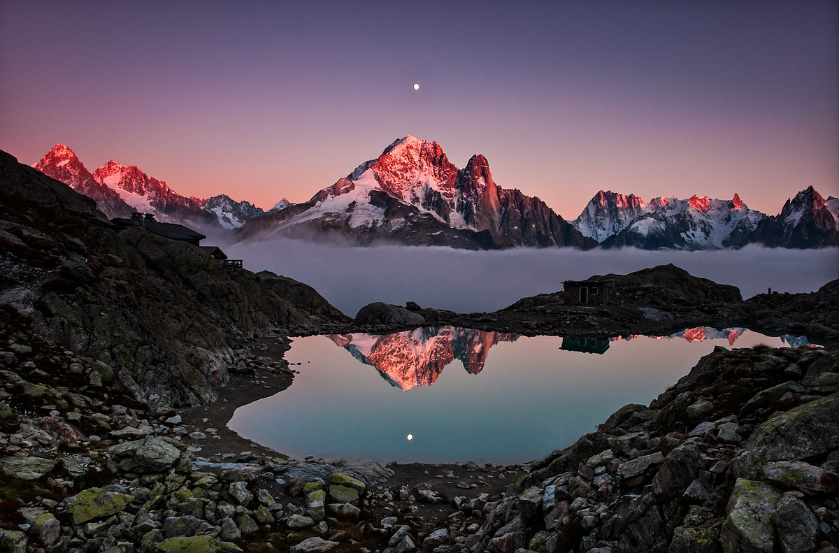 Photograph Sunset on Aiguille Verte by Joris Kiredjian on 500px