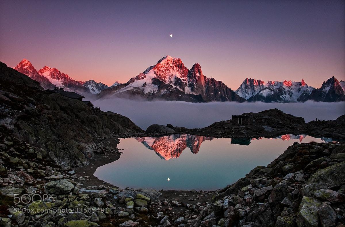Photograph Sunset on Aiguille Verte by Joris Kiredjian on 500px