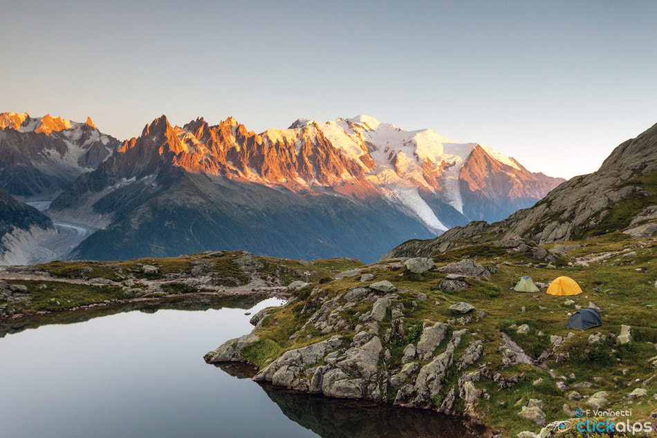 Photograph Camping under Mont Blanc by Francesco Vaninetti on 500px