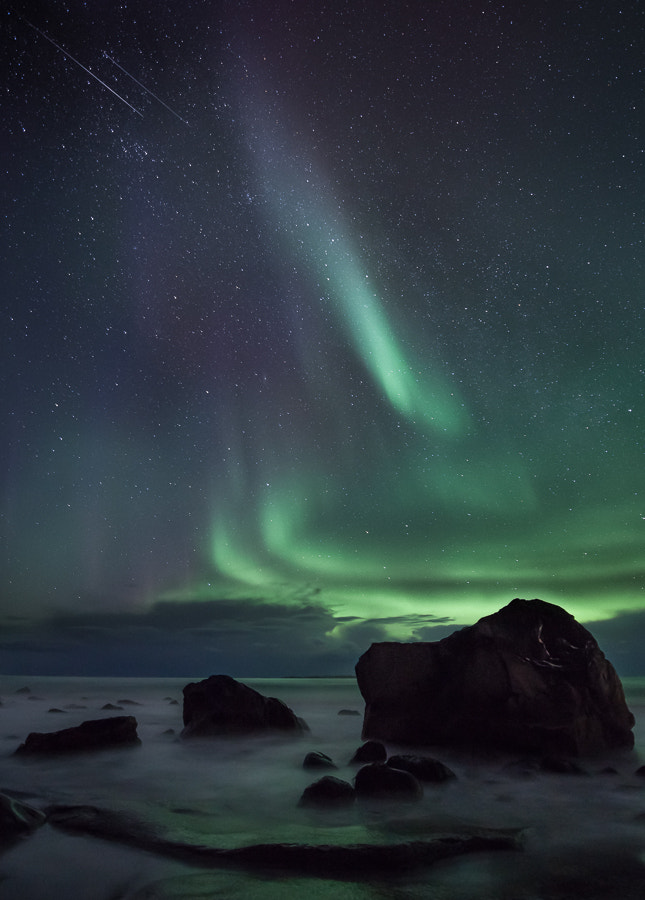Photograph Utakleiv aurora by John Q on 500px