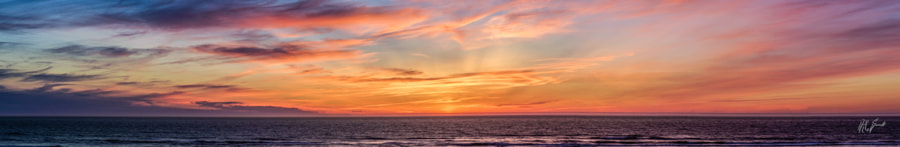 Sunset by the Pacific.. a Panorama