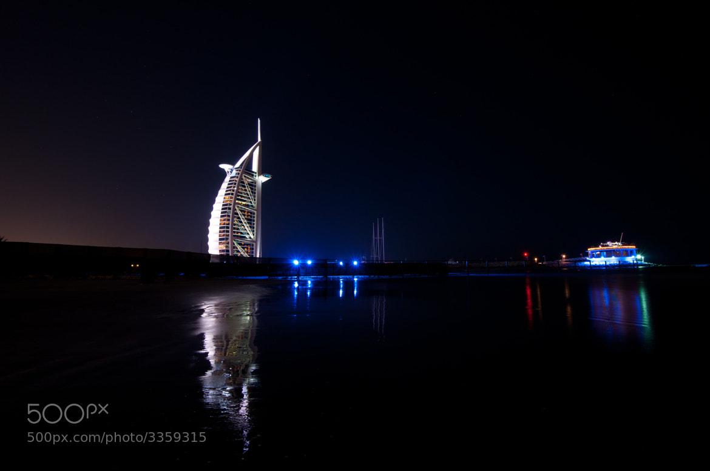 Photograph Burj Al Arab and the 360 Degrees club by Joe Borg on 500px