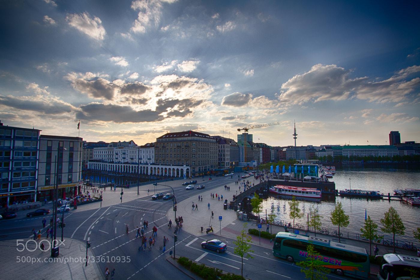 Photograph Sunset at Jungfernstieg Hamburg by Hans Fischer on 500px