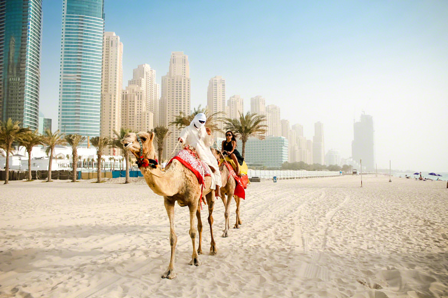 Photograph CJ Miles Riding a Camel in Dubai by Jeff Lombardo on 500px