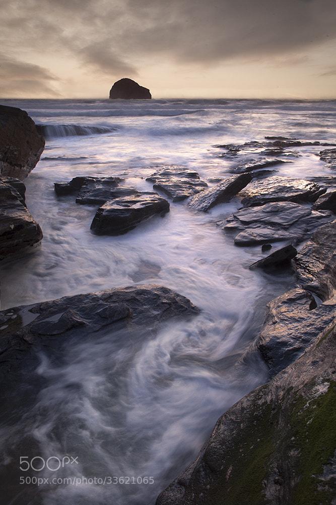 Photograph Trebarwith Strand at Sunset by Daniel Hannabuss on 500px