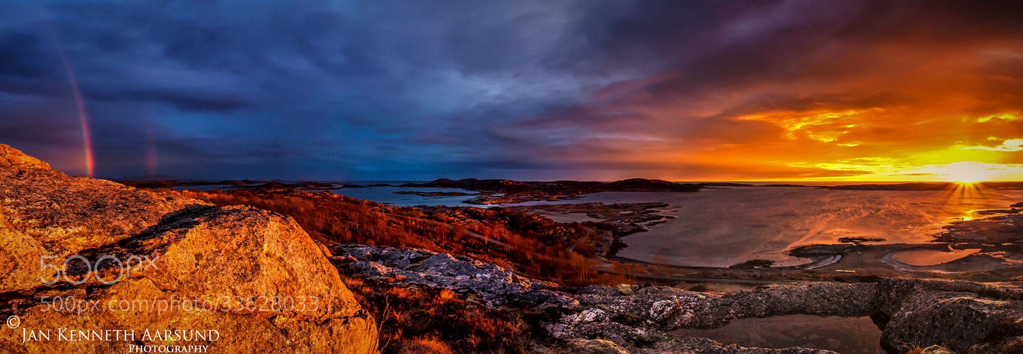 Photograph Sunset Panorama by Jan Kenneth Aarsund on 500px