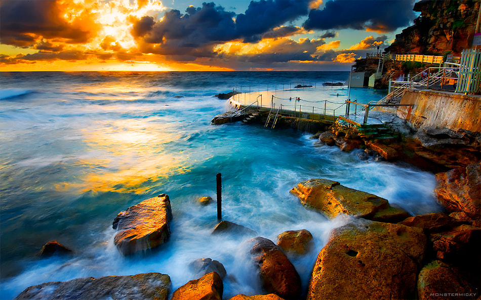Photograph Morning Golden Light @Bronte Rock Pool by MONSTERMICKY ! on 500px