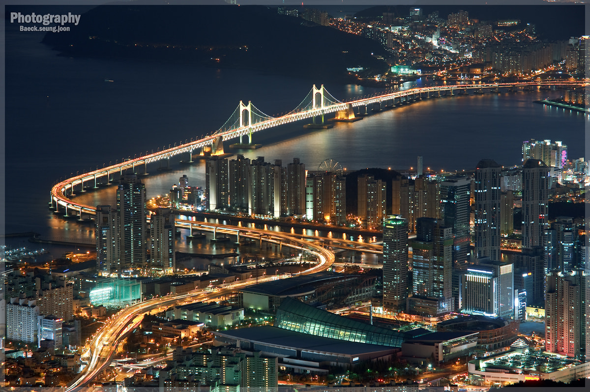 Photograph A night view of Busan by blackgull on 500px