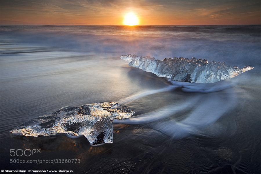 Photograph The Glacier Beach, Iceland by Skarpi Thrainsson on 500px