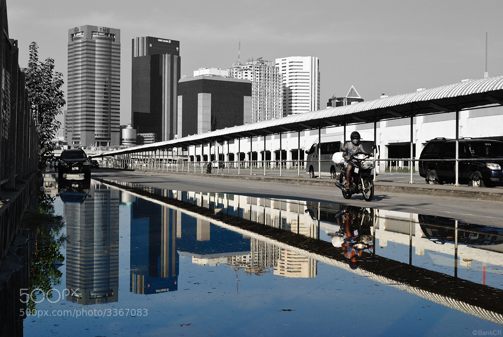 Photograph Reflection of flood in Bangkok by poneaks sirivetaumnuikit on 500px