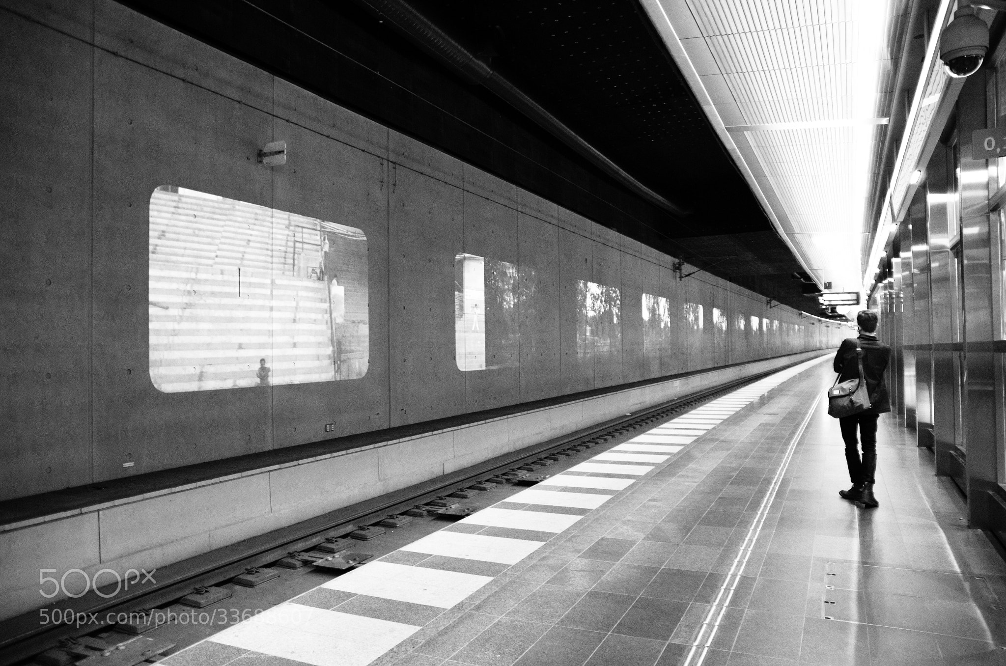Photograph A Train in the Wall by Nuno  Bonito on 500px