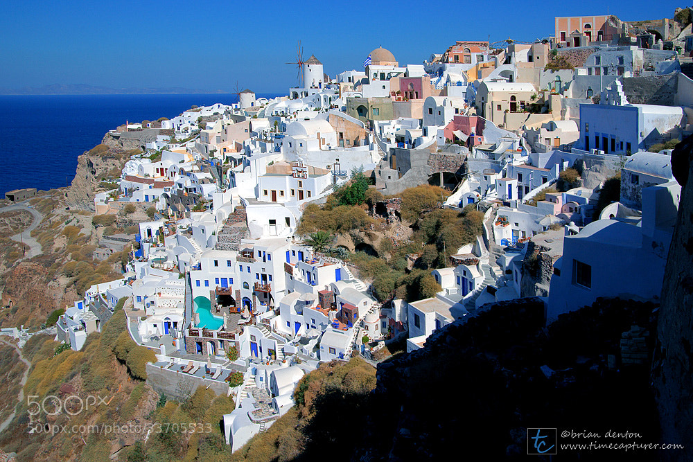 Photograph oia castle view by Brian Denton on 500px