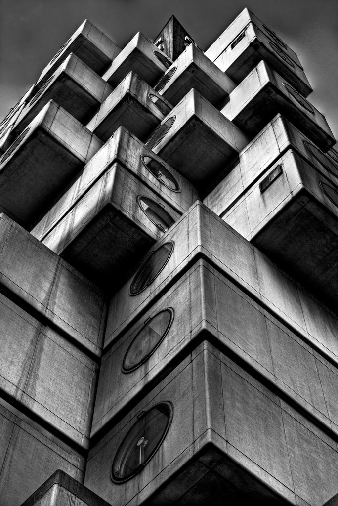 Photograph Cubic Concrete BW Soft Dodge by Jon Sheer on 500px