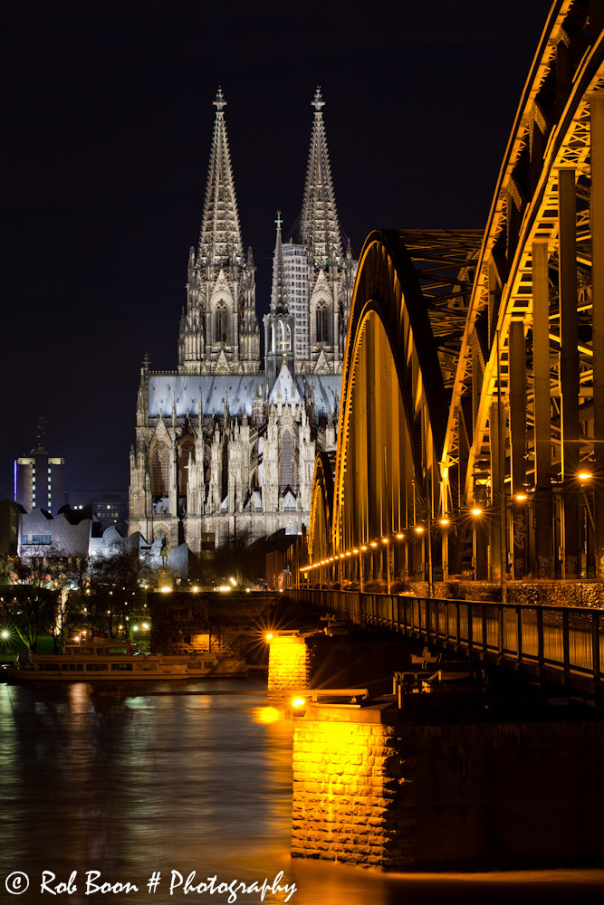 Photograph Cologne @ Night by Rob Boon on 500px