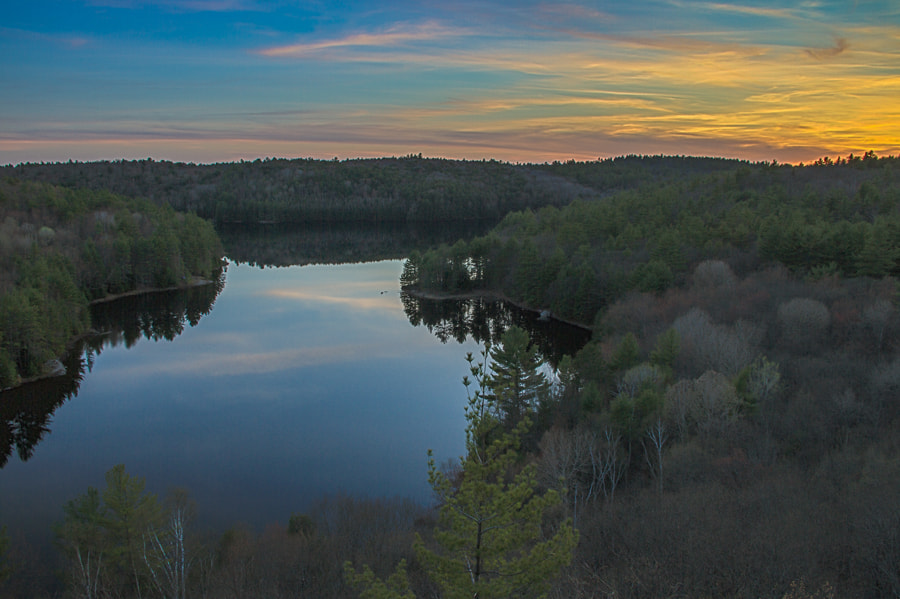 Photograph Triangle Lake at Sunset by Maxwell Danger on 500px