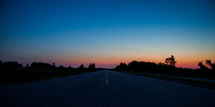 Photograph Dark Highway by Maxwell Danger on 500px
